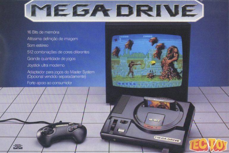 Anúncio do primeiro Mega Drive da Tectoy