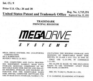 Registro de logo da empresa MegaDrive Systems