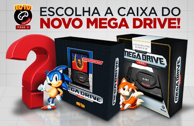 Escolha a caixa do novo Mega Drive!