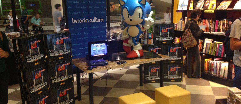 Evento da Tectoy na Livraria Cultura - Foto Sonic
