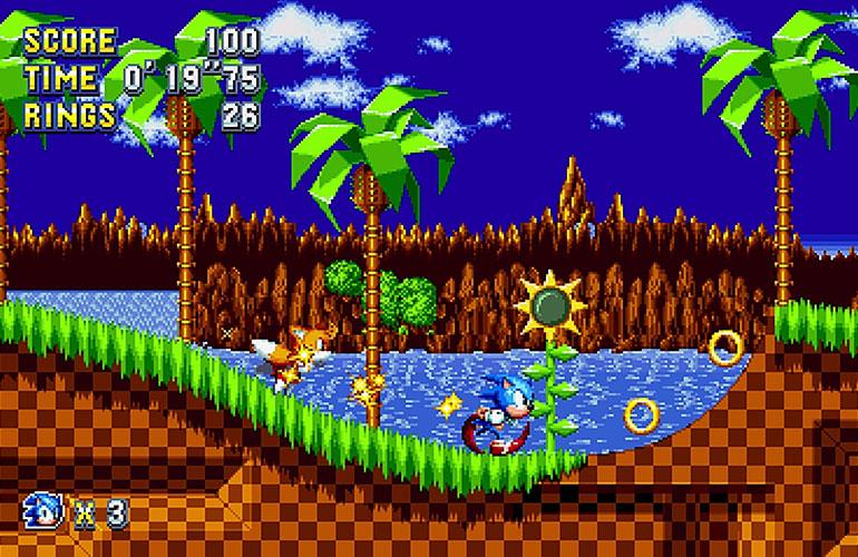 [7 Animes Indispensáveis] - Video Games - Era Clássica Sonic-mania-gameplay