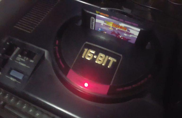 accac119f97 Teste oficial do cartucho Turma da Mônica no MDII 32X Genesis MD Japonês