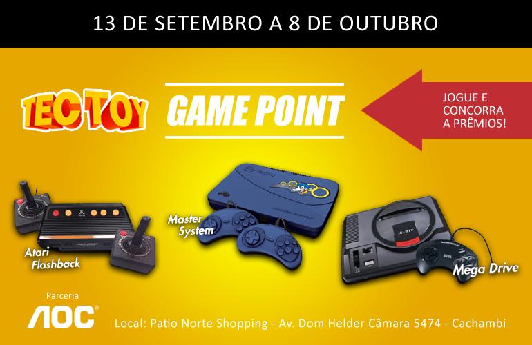 """#Tectoy30Anos – Rio de Janeiro recebe o evento """"GAME POINT – TECTOY"""" em comemoração aos 30 anos da empresa!"""