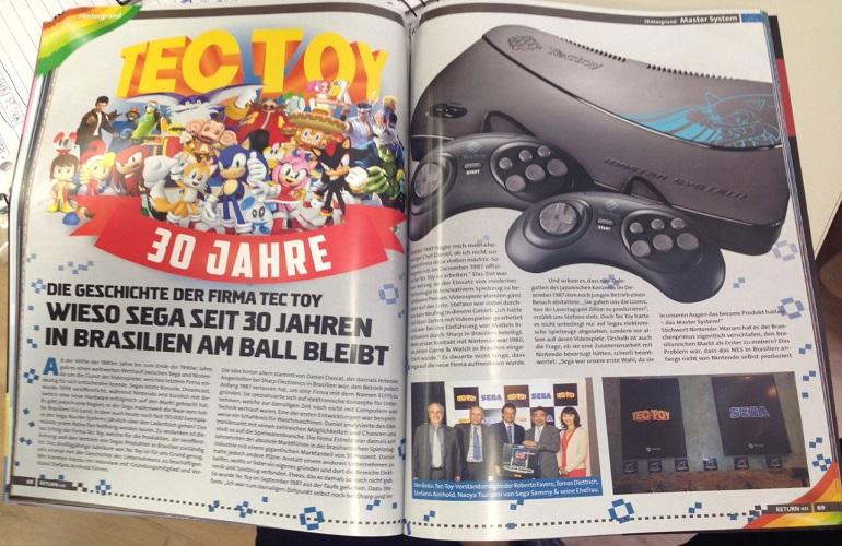 Tectoy e Stefano Arhnold estampam matéria de revista alemã Return Magazine