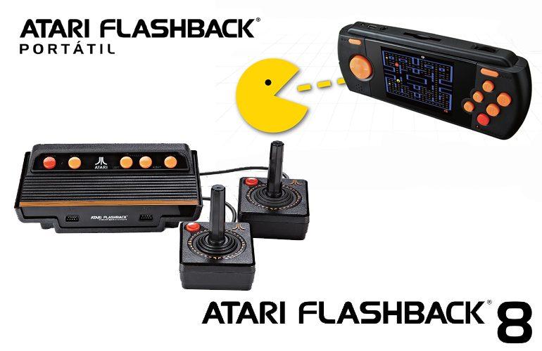 O Atari voltou em dose dupla! Tectoy anuncia lançamento do Atari Flashback 8 e Portátil no Brasil!