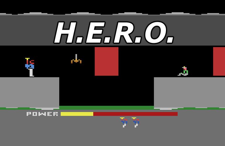 H.E.R.O. – Seja o herói neste incrível jogo do Atari. HERO_capa