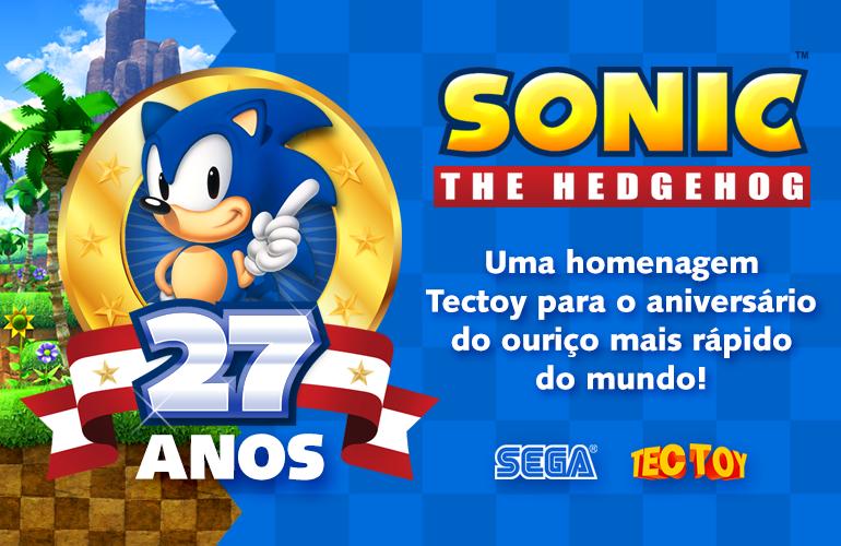 Parabéns Sonic! Ouriço comemora aniversário de 27 anos!