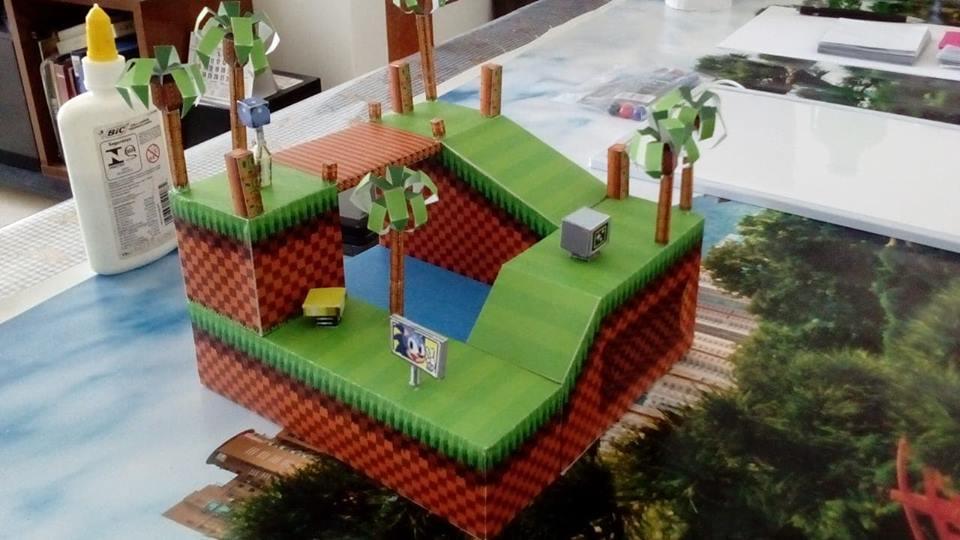 Papercraft do Sonic e card game do Skies of Arcadia! Conheça o talento de Marcelo Hirata 2-1