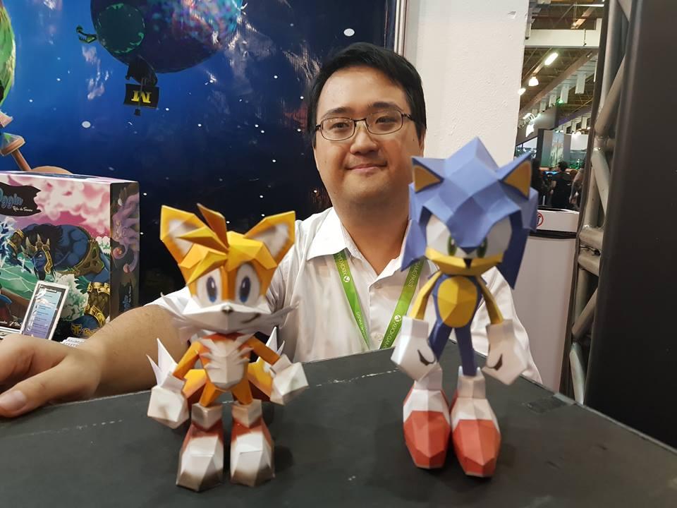 Papercraft do Sonic e card game do Skies of Arcadia! Conheça o talento de Marcelo Hirata Papercraft