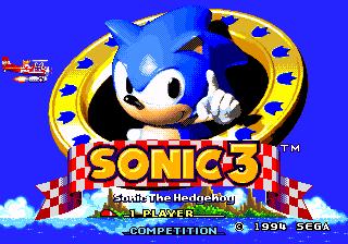 Todos os jogos do Sonic – Cancelados. Sonic3_title