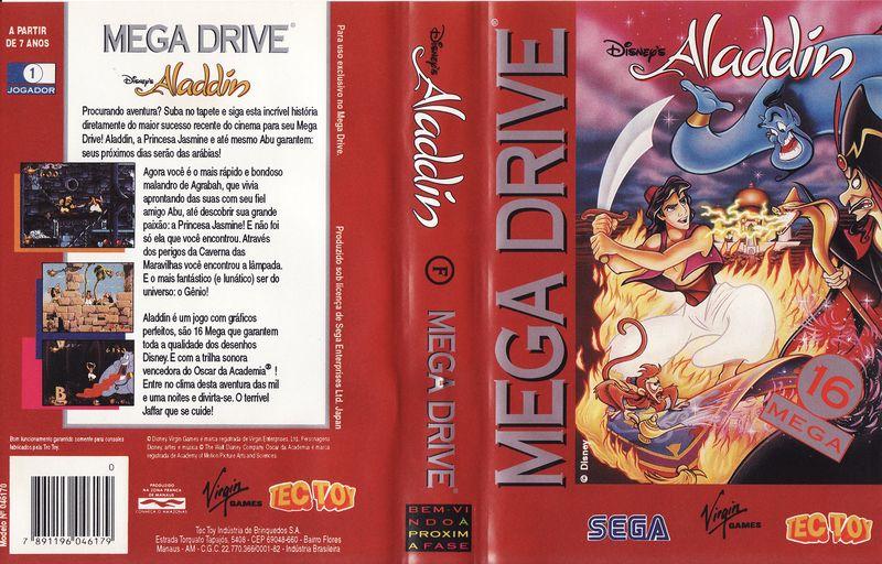 Aladdin - Quatro milhões de cópias refletem a qualidade de um clássico no Mega Drive 800px-Aladdin_MD_BR_Box