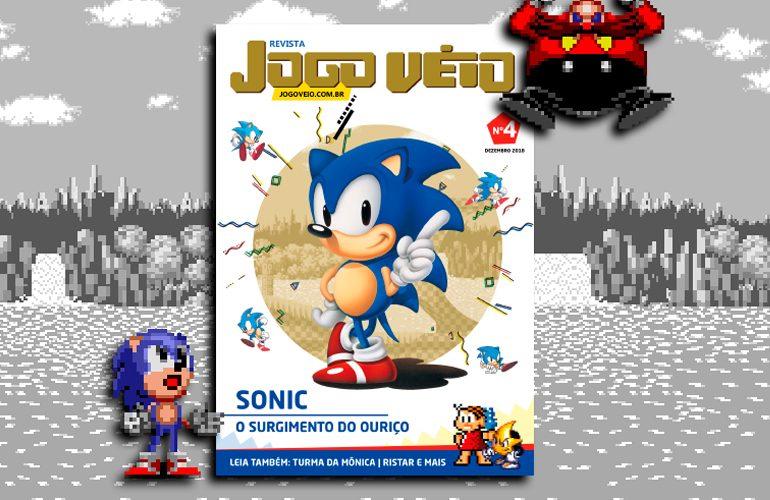 bcc495ea7b848 Revista Jogo Véio  4 traz edição dedicada ao jogos da Sega!