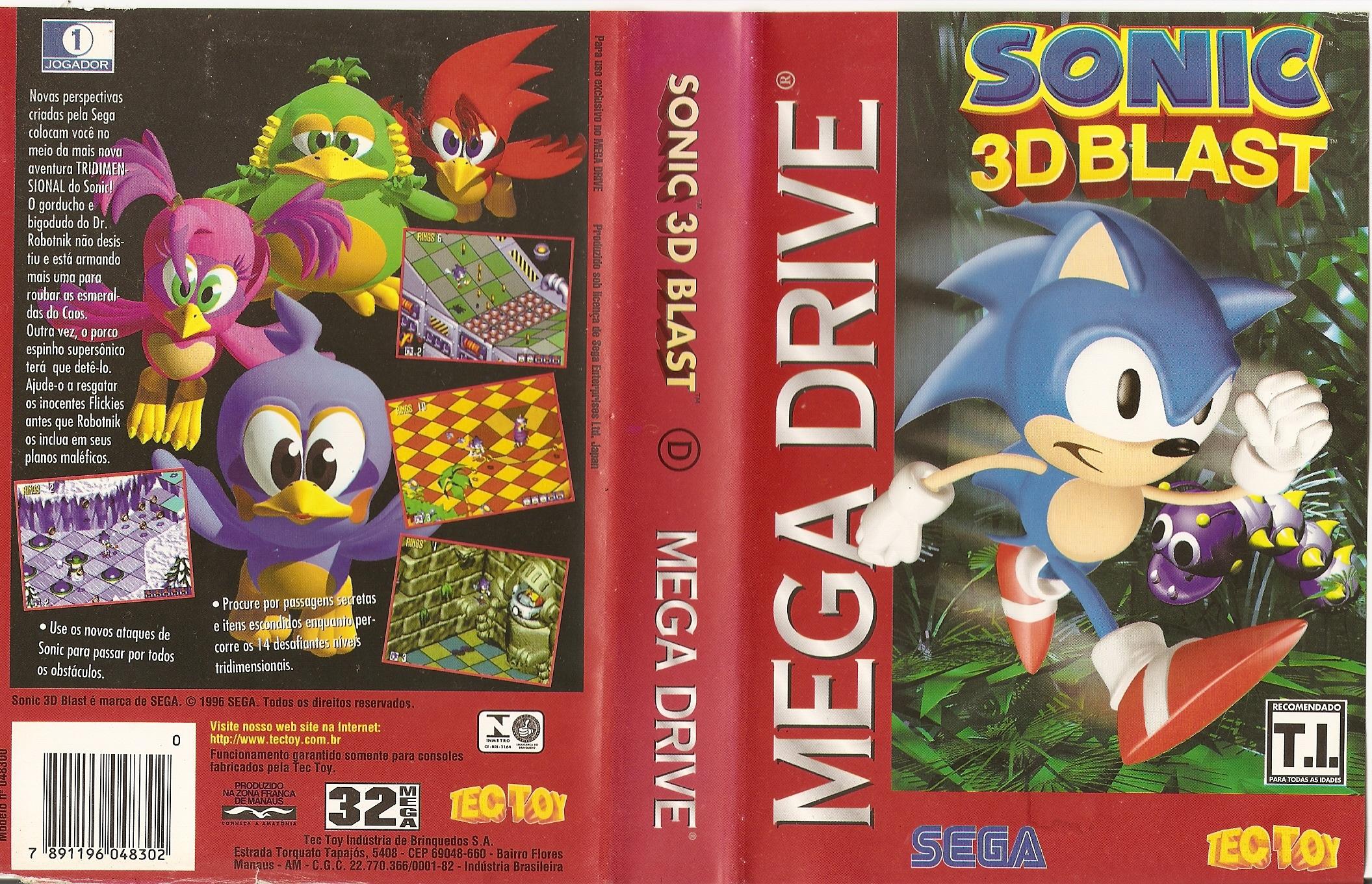 Sonic 3D Blast - Despedindo-se do Mega Drive em grande