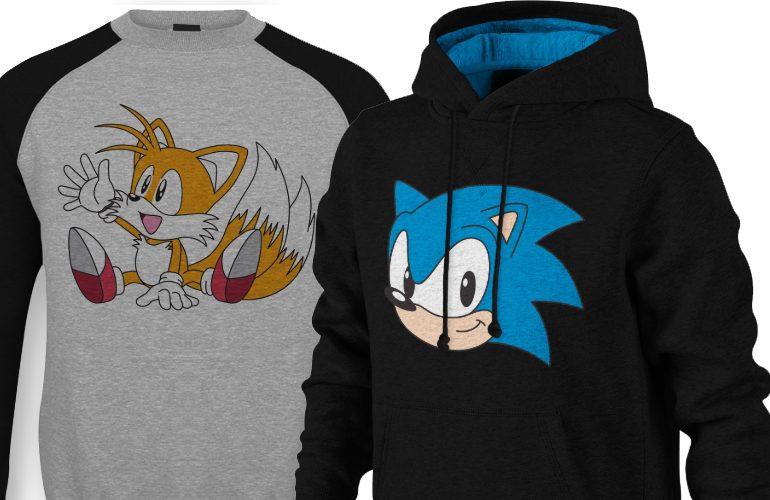 O inverno chegou! Espante o frio com os moletons oficiais da Sega e Sonic