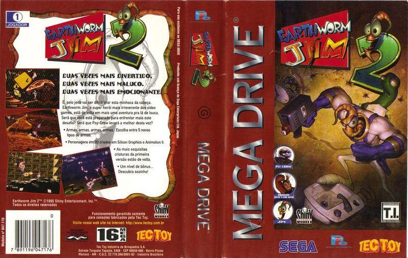 Earthworm Jim 2 foi lançado no Brasil pela Tectoy