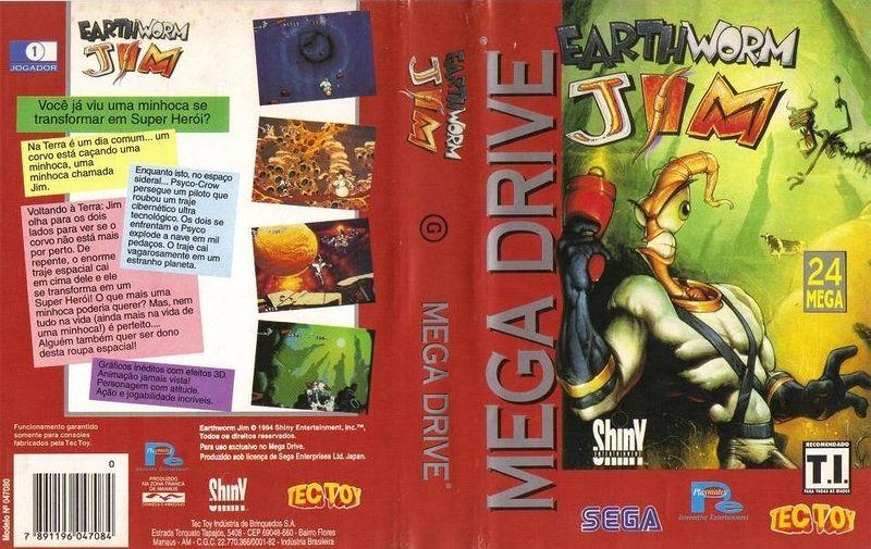 Earthworm Jim foi lançado pela Tectoy