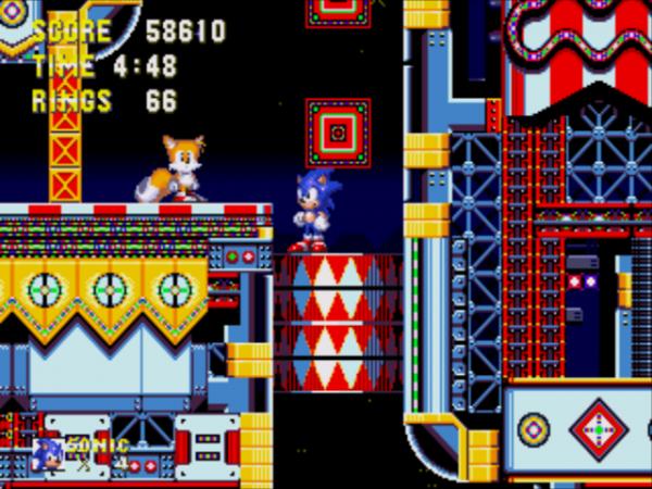 Latão de Carnival Night em Sonic 3