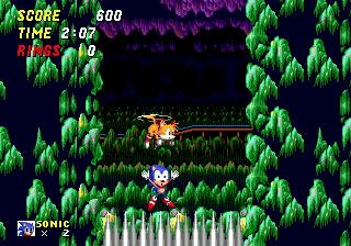Mystic Cave Zone tinha um problema no level design que levava o ouriço a ficar preso em espinhos. Na versão para celulares, virou uma passagem para a fase Hidden Palce (Foto:Reprodução)