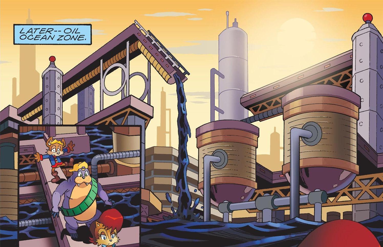 Oil Ocean em uma edição dos quadrinhos do Sonic (Foto:Reprodução)
