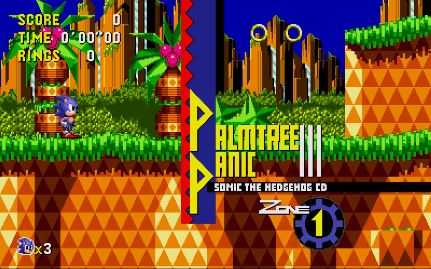 Palmtree Panic foi feita para ser uma releitura da Green Hill Zone de Sonic 1.