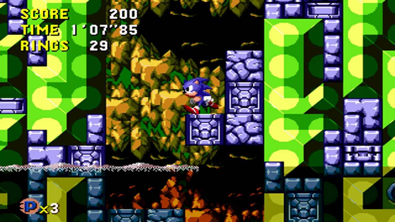 Tidal Tempest é a fase mais parecida com sua contraparte de Sonic 1: Labyrinth Zone.