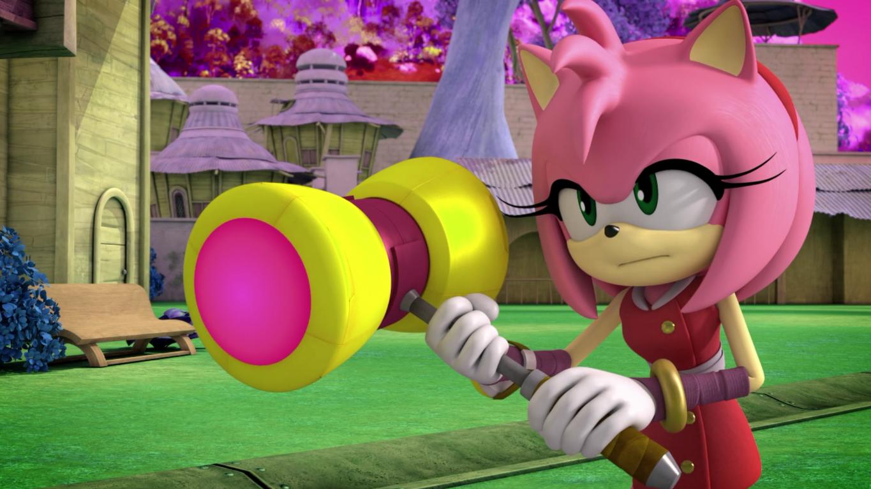 Amy Rose é a namorada (ou quase isso) do Sonic, rendendo diversos momentos cômicos.