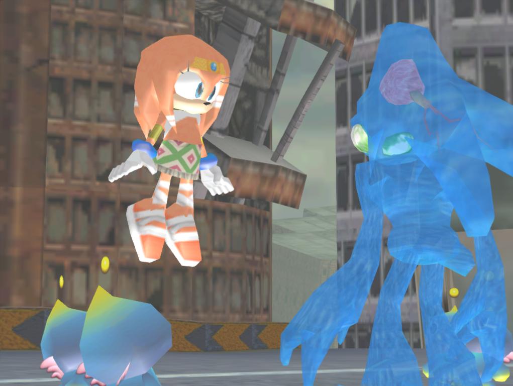 Tikal e Chaos ficaram presos dentro da Esmeralda Mestre por quatro mil anos, até serem libertados pelo Dr.Eggman em Sonic Adventure.