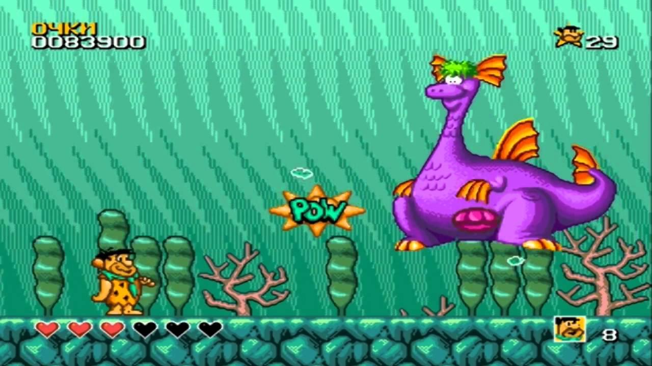 Os Flintstones para Mega Drive traz chefes criativos e carismáticos (Foto: Reprodução)