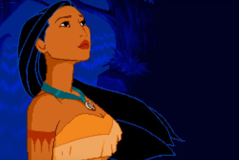 """Pocahontas é um game que saiu tardiamente para o Mega Drive, mas """"fez bonito"""" mesmo assim"""